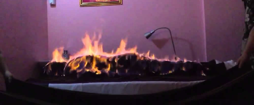 Fire massages look like the scariest thing in the world
