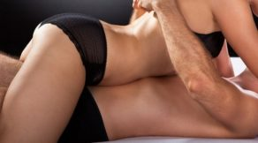 woman and man having an intimate massage in london
