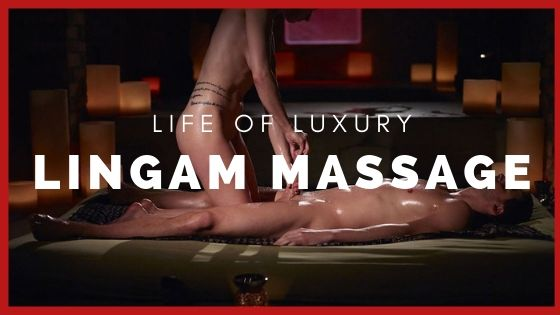 woman masseuse giving man a luxury lingam massage in London incall massage